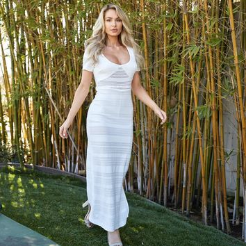 Walk This Way Maxi Dress In White