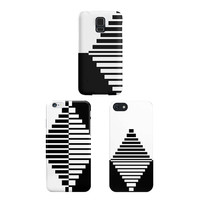 Geometric iPhone, Samsung Galaxy Case, Black and White Diamond Phone Case, Patterned Cell Case