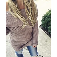 Gemma Knit Sweater in Mauve