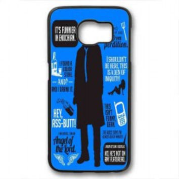 Cas Quotes Supernatural for samsung galaxy s6 case