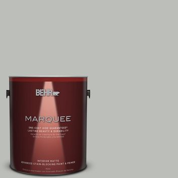 BEHR MARQUEE 1 gal. #PPU24-17 Hailstorm Gray Matte Interior Paint-145001 - The Home Depot