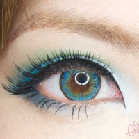 neo shimmer aqua EyeCandy's Circle Lens Cosmetic Color Contact Lenses