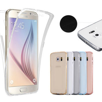 360 Full Protective Soft TPU Case Cover for Samsung Galaxy S3 S4 S5 S6 S7 edge Silicone Coque Para For A3 A5 A710 J3 J5 J7 2016