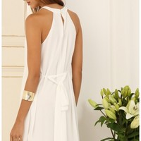 Party dresses > Halter Tie Dress In White