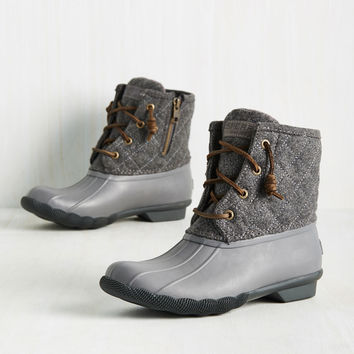 Fine Weather for Luxe Boot in Grey | Mod Retro Vintage Boots | ModCloth.com