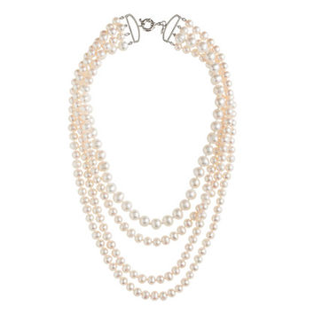 J.Crew Womens Four-Strand Pearl Necklace