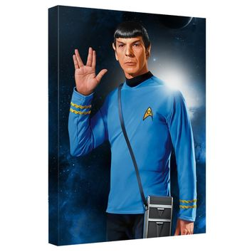 Star Trek - Spock Canvas Wall Art With Back Board
