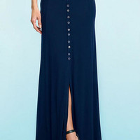 Taylor Button-Front Maxi Skirt