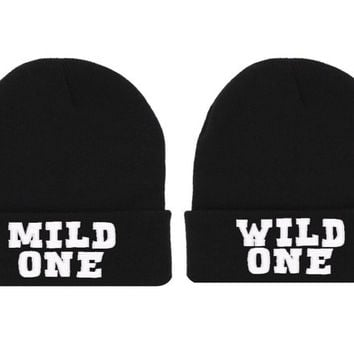eda078b2ef1281 Mild One Wild One Beanie Hat Soul Mate from NYCApparel on Etsy