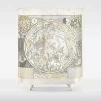 Star map of the Southern Starry Sky Shower Curtain by anipani