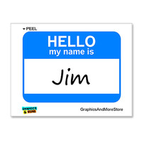 Jim Hello My Name Is Sticker