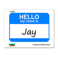 Jay Hello My Name Is Sticker