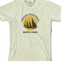 Boats Hoes Step Brothers-Unisex Natural T-Shirt