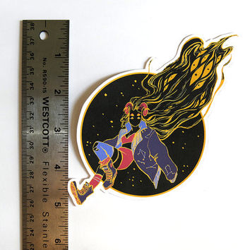 SPACE GAL Galactic Star Punk Pin-Up Matte Sticker