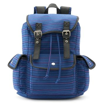 Candie's Anna Striped Backpack (Blue)