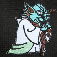 "Yoda STAR WARS Jedi Master Iron On Embroidered Patch 3.4""/8.8cm"