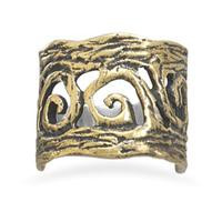 Brass and Sterling Silver Ring