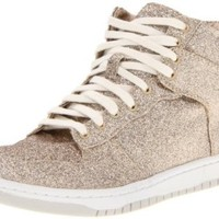 Steve Madden Women's Shufle Fashion Sneaker,Gold Glitter,9.5 M US