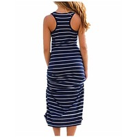 Plus Size Women's Sleeveless Long Maxi Dress