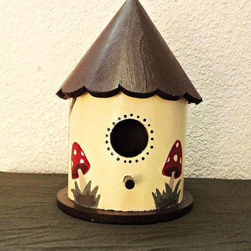 German Cottage Style Birdhouse- Hand painted