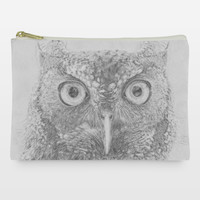 Owl Digital Drawing Accessory and Make-Up Bags by mollywog on BoomBoomPrints