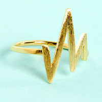 Lightning Bolt Gold Knuckle Ring