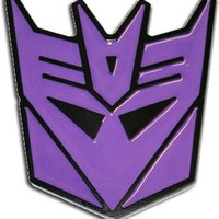 Transformers Decepticon Purple Metal Belt Buckle - Transformers - | TV Store Online