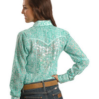 Wrangler Rock 47 Metallic Screen Print Western Shirt - Sheplers