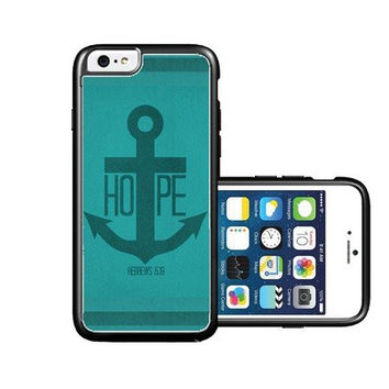 RCGrafix Brand hope-anchor-hebrew-6-19-verse iPhone 6 Case - Fits NEW Apple iPhone 6