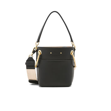 Chloe Mini Roy Calfskin Bucket Bag in Black | FWRD