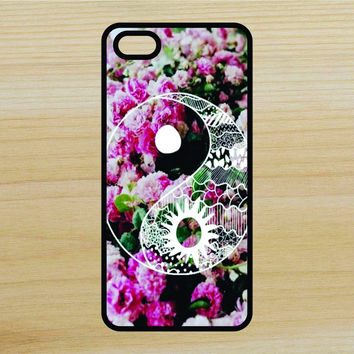 Flowers Yin Yang Art Phone Case iPhone 4 / 4s / 5 / 5s / 5c /6 / 6s /6+ Apple Samsung Galaxy S3 / S4 / S5 / S6