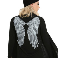 Black Angel Wing Girls Cardigan