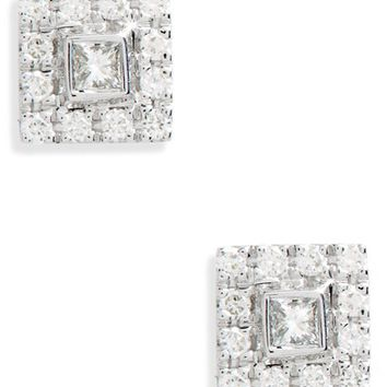Bony Levy Amara Small Square Diamond Stud Earrings | Nordstrom