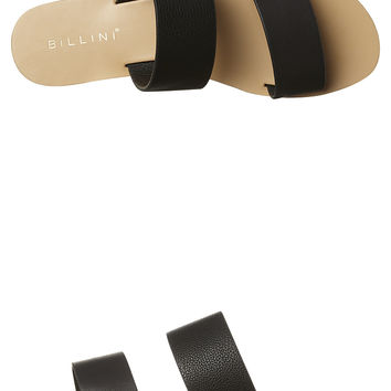 BILLINI CUBAN WOMENS SANDAL - BLACK PEBBLE BLACK