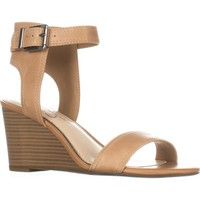 Jessica Simpson Cristabel Ankle Strap Wedge Sandals, Buff, 11 US / 41 EU