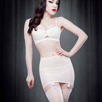 Vargas Roll On Girdle in Ivory — Kiss Me Deadly