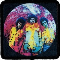 The Jimi Hendrix Experience - Fish Eye Lens Group Shot - Embroidered Sew or Iron on Patch