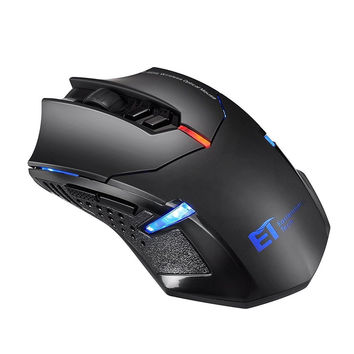 TOMOKO 2.4G Wireless Gaming Mouse 2400DPI 5 Adjustable DPI Mice 6 Programmabl...