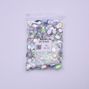 JUNAO  Shape  Sewing  Crystal  Rhinestones  Strass