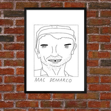 Badly Drawn Mac DeMarco - Poster