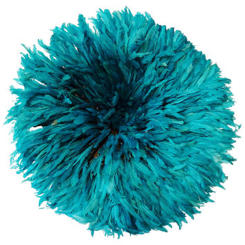 Turquoise Juju Feather Wall Hanging Hat