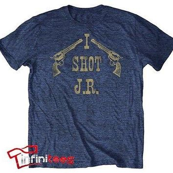I Shot J.R. Dallas TV Show Officially Licensed Adult Lightweight Tee Shirt S-2XL