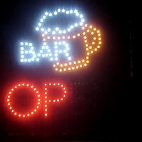 Ultra Bright LED Neon Animated Wine BAR Cocktail Open Sign L84