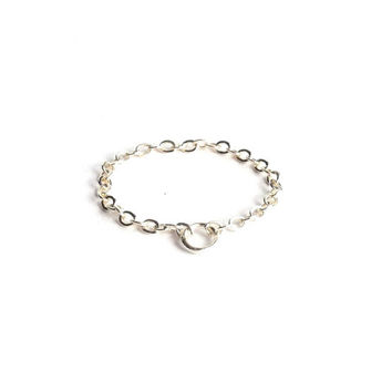 Silver Chain Ring, Thin Silver Ring, Silver Stack Ring, Thin Delicate Ring, Simple Silver Ring, Dainty Ring, Simple Cute Everyday Jewelry