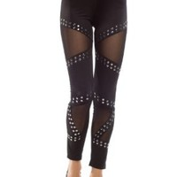 Ninimour- Fashion Trendy Women's Stretchy Leggings Pants Tights (Rivet)