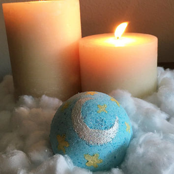 Night Night, Sweet Dreams Bath Bomb; Aromatherapy; Chamomile Bath Bomb; Lavender Bath Bomb; Relaxing Bath Bomb; Blue Bomb