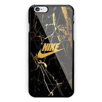 Hot Nike.Marble Best Gold iPhone 6 6s 7 8 X Plus Print On Hard Case
