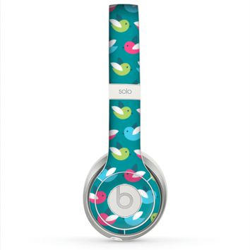 The Vibrant Colored Vector Bird Collage Skin for the Beats by Dre Solo 2 Headphones