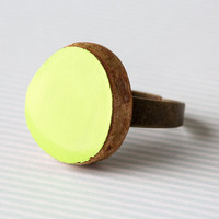 Chartreuse Wooden Ring