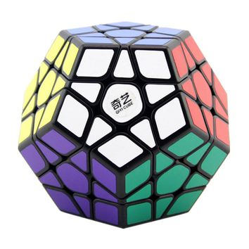 Qiyi QiHeng Megaminx Magic Cubes 12 Sides PVC Sticker Dodecahedron Toy Square Cubo Puzzle Twist Educational Toys For Kids Gift